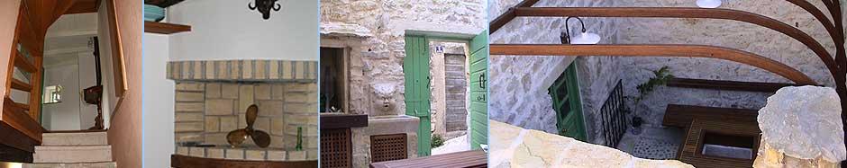 Treppenaufgang Tür houses betina island murter in croatia
